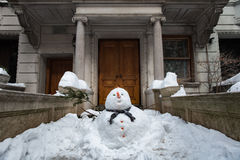 Fat Snowman in New York City Stock Image