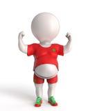 Fat sportsman Stock Image