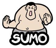 Fat sumo. Creative design of fat sumo Stock Photos
