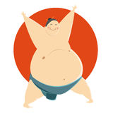 Fat Sumo fighter Stock Images