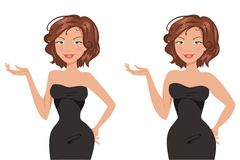 Fat and thin woman. Vector illustration Royalty Free Stock Image