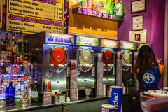 Fat Tuesday Las Vegas. Fat Tuesday serving flavored alcoholic Daiquiri drinks Stock Photo