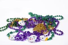 Fat Tuesday and Mardi Gras. Mardi Gras Throws Royalty Free Stock Photo