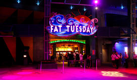 Fat Tuesday Night Club, Orlando, Florida. Fat Tuesday Night Club at Universal City Walk located in Orlando, Florida Royalty Free Stock Images