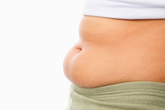 Fat tummy for obese concept Royalty Free Stock Images