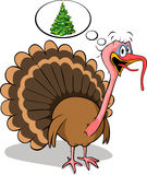 Fat turkey do not like christmas Stock Images