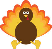 Fat Turkey Royalty Free Stock Images