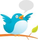 Fat Twitter Bird. Illustration of Fat Twitter Bird on tree Royalty Free Stock Photography