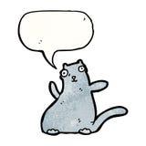 Fat ugly cartoon cat Stock Image