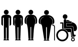 Fat. Vector illustration (EPS 10 royalty free illustration