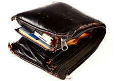 Fat Wallet. A wallet with a lot of stuff Stock Photo