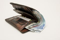 Fat wallet Stock Images