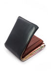 Fat Wallet with Thai money Royalty Free Stock Photos
