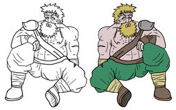 Fat warrior Stock Image