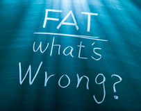 Fat, what is wrong? Stock Images