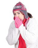 Fat winter girl Royalty Free Stock Photos