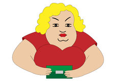 Fat woman Royalty Free Stock Photos