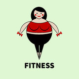 Fat woman exercise Royalty Free Stock Photo
