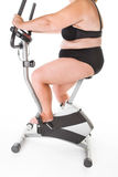 Fat woman fitness Stock Photos