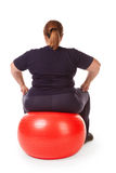 Fat woman fitness Stock Photos