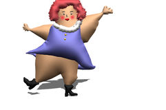 Fat woman. Illustration obese and big Royalty Free Stock Photo