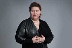 Fat woman Royalty Free Stock Photo