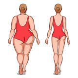 Fat woman and slender woman Royalty Free Stock Photo