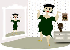 Fat women Stock Photography