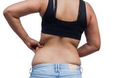 Fat women from rear. Body of fat woman from rear Stock Photo