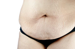 Fat women on whitebackground. Fat women post on whitebackground Stock Photos
