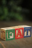 Fat wood blocks Stock Photo