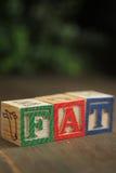 Fat wood blocks Stock Photo
