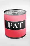 Fat word Royalty Free Stock Images