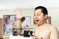 Fat young man Stock Image