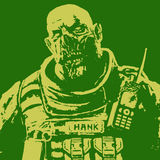 Fat zombie soldier. vector illustration Stock Images