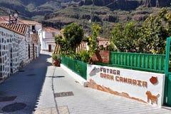Fataga, Gran Canaria royalty-vrije stock foto