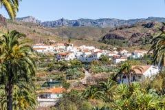 Fataga Village In Barranco de Fataga-Gran Canaria Stock Photo