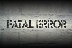 Fatal error Stock Images
