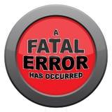 Fatal Error Dark Metal Icon Royalty Free Stock Images