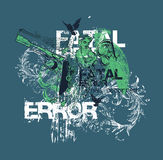 Fatal error design. Abstract design with the words fatal error Stock Photography