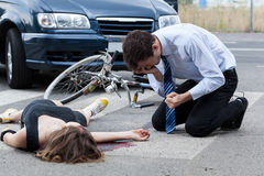 Fatal road accident Stock Photos