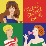 Fatal sweet tooth Stock Photo