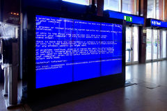 Fatal system computer error Videowall Stock Image