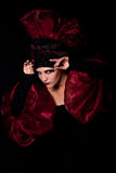 Fatale místico del femme de la mirada Imagen de archivo