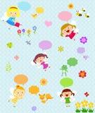Fatati e fiore Immagini Stock