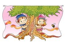 Fatati ed elfi, l'amicizia Fotografia Stock Libera da Diritti