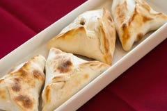Fatayer, libanesische Nahrung. Lizenzfreies Stockfoto