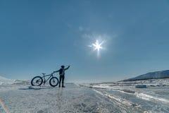 Fatbike 肥胖轮胎自行车 免版税库存图片
