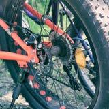 Fatbike bakre hjul fotografering för bildbyråer