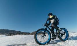 Fatbike Bici grassa della gomma Fotografia Stock